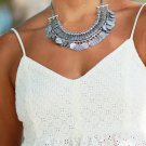 Boho Gypsy Silver Plated Coin Necklace *NWOT*