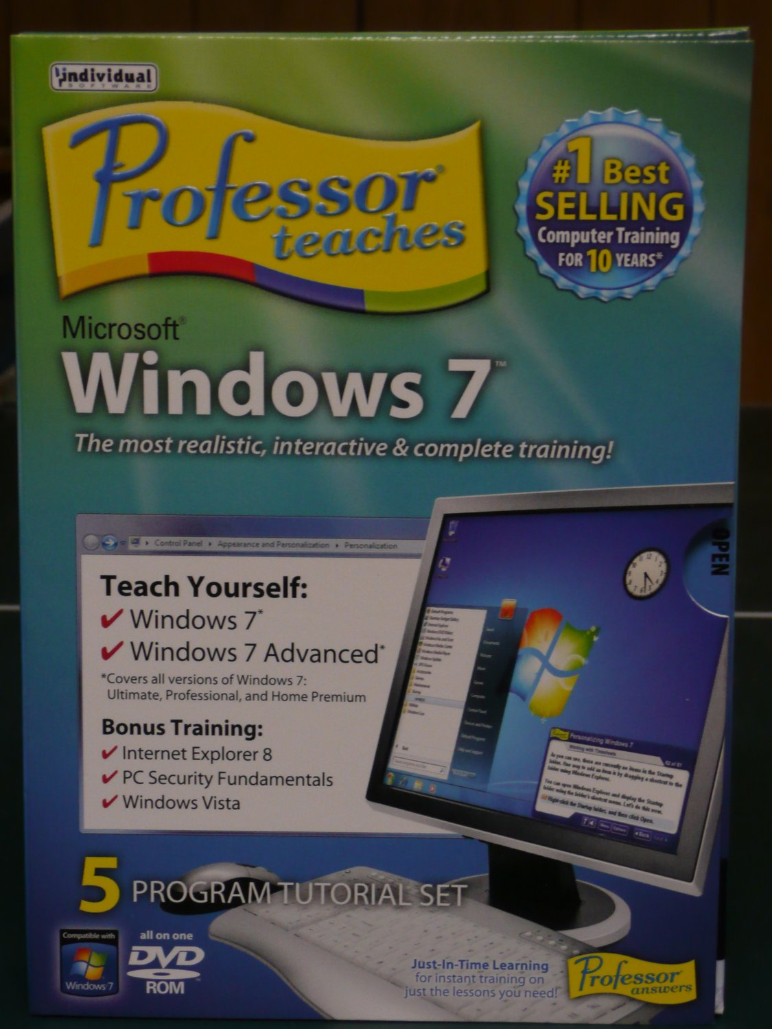 Professor teaches windows 7 | individual software.