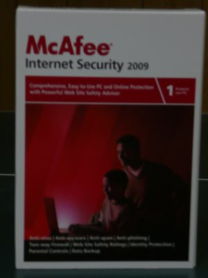 McAfee Internet Security Suite 2009 w/SiteAdvisor + free 2012 upgrade