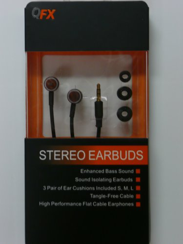QFX H-101 Wood Stereo Earbuds