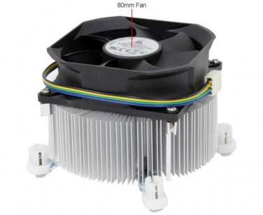 GlacialTech Igloo 1100 CPU Cooler - 80mm, 4 Pin, 3600RPM, Copper Heatsink, (1100 PWM (E))