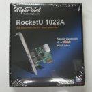 HighPoint RocketU 1022A PCI-Express 2.0 x1 Low Profile USB 3.0 HBA Controller Card