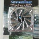 Aerocool Streamliner Silver 140mm Case Fan with 4 Blue LEDs