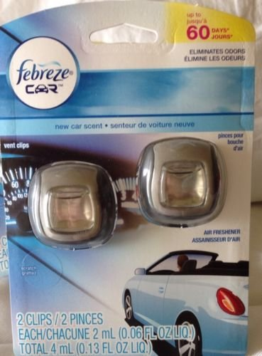 new car total release odor eliminatorFebreze Car Vent Clips Air Freshener and Odor Eliminator New Car Scent