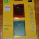 PS2 MEMORY CARD 2 Pack -- Brand New Sealed!!