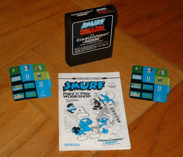 COLECOVISION - SMURF PAINT & PLAY WORKSHOP