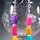 Color Block Earrings Handcrafted