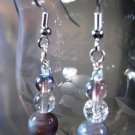 Amethyst Swirl Earrings Handcrafted