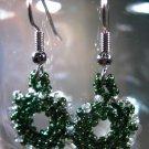 Christmas Wreath Earrings Handcrafted