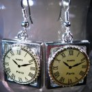 Clock Earrings Handcrafted