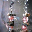 Pink Feldspar Earrings Handcrafted