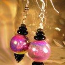 Purple Earrings Handcrafted