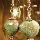 Stone Heart Earrings Handcrafted
