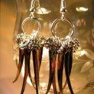 Silver Dangle Earrings Handcrafted