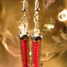 Red Seed Earrings Handcrafted