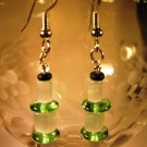 White Satin Earrings Handcrafted