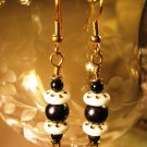 Black and White Earrings Handcrafted