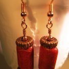 Sponge Coral Pillow Earrings Handcrafted