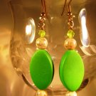 Spring Green Earrings Handcrafted