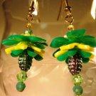 Vintage Flower Earrings Handcrafted