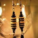 Black and Tan Earrings Handcrafted