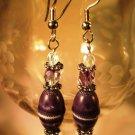 Dark Purple Earrings Handcrafted
