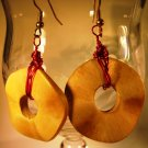 Wood Wrapped Earrings Handcrafted