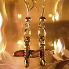 Fly High Earrings French Wire Pierced Handcrafted