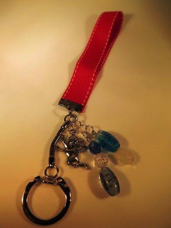 Cherub Purse Charm Key Chain Handcrafted OOAK