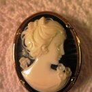 Vintage Napier Cameo Brooch Pin