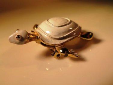 Gerry Enameled Turtle Pin Brooch Figural