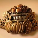 Apple Basket Pumpkin Pin Brooch Basket