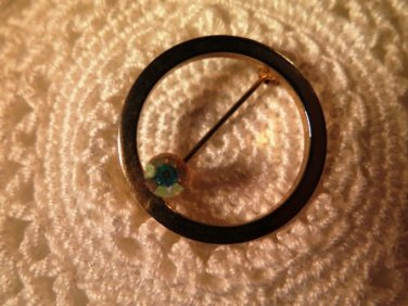 Vintage Aurora Borealis Rhinestone Brooch Pin
