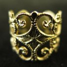 Gold Tone Filigree Ring