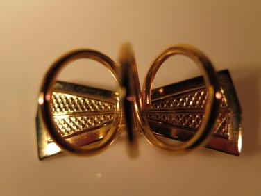Vintage Bow Tie Pin Brooch Scarf Holder Slide