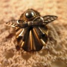 Petite Gold Tone Angel Pin Brooch