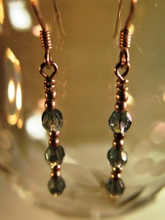 925 French Wire Earrings Blue