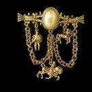 Roman Charm Bar Pin Brooch Centurian