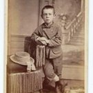 Antique Carte de Visite CDV Photograph Standing Boy