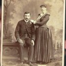 Antique Cabinet Card Photograph Couple