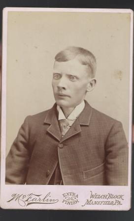 Antique Cabinet Card Photograph Man Manchester PA
