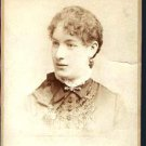 Antique Cabinet Card Photograph Young Woman Philadelphia