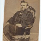 Antique Cabinet Card Photograph Man with Tax Stamp