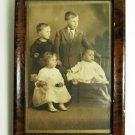 Antique Photo Children and Frame