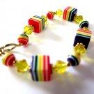 Handcrafted Chunky Rainbow Beaded Bracelet