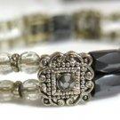 Hematite Bracelet Silver Tone