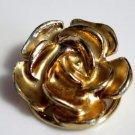 Gold Tone Rose Shoe Clip Scarf Clip