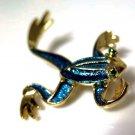 Gerry Enameled Frog Pin Brooch