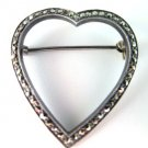 Buma 925 Heart Pin Brooch