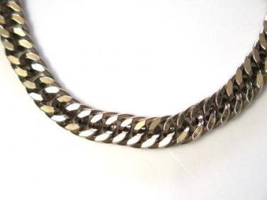 Curb Chain Gold Tone Bracelet